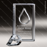 Acrylic  Clear Rectangle Tear Stock Knockout Shape Trophy Award Clear Acrylic Awards