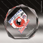 Acrylic Clear Multi-Faceted Octagon Trophy Award Clear Acrylic Awards