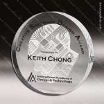 Acrylic Clear Circle Wedge Trophy Award Clear Acrylic Awards
