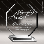 Acrylic Clear Octagonal Trophy Award Clear Acrylic Awards