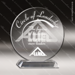 Acrylic Clear Circle Round Trophy Award Clear Acrylic Awards
