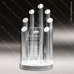 Acrylic Clear Circle Posts MLB Replica Trophy Award Clear Acrylic Awards
