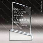 Acrylic  Clear Peak Icecap Trophy Award Clear Acrylic Awards