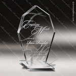 Acrylic  Clear Diamond Octagon Devotion Trophy Award Clear Acrylic Awards