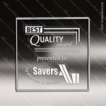 Acrylic  Clear Square Weighted Paperweight Trophy Award Clear Acrylic Awards