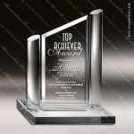 Acrylic Clear Angles with Circular Posts Trophy Award Clear Acrylic Awards