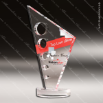 Acrylic Red Accented Knuckle Bones Trophy Award Clear Acrylic Awards
