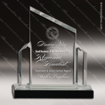 Acrylic  Clear Peak Beveled Post Impress Trophy Award Clear Acrylic Awards