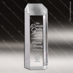 Acrylic  Clear Obelisk Hexagon Tower Trophy Award Clear Acrylic Awards