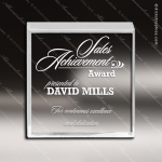 Acrylic  Clear Beveled Square Paperweight Award Clear Acrylic Awards