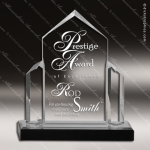 Acrylic  Clear Peak Jewell Post Silver Impress Trophy Award Clear Acrylic Awards