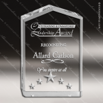 Acrylic  Clear Peak Star Point Trophy Award Clear Acrylic Awards