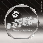 Acrylic  Clear Octagon Bevel Award Clear Acrylic Awards