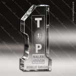 Crystal  Clear Zenith Number One #1 Trophy Award Clear Crystal Awards