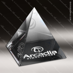 Crystal  Clear Pyramid Paper Weight Trophy Award Clear Crystal Awards