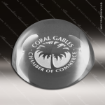 Crystal  Clear Circle Magnifier Paper Weight Trophy Award Clear Crystal Awards