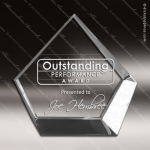 Crystal  Clear Pentagon Diamond Paper Weight Trophy Award Clear Crystal Awards