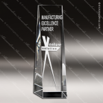 Crystal  Clear Rectangle Tower Trophy Award Clear Crystal Awards