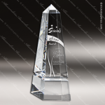 Crystal  Clear Persuasion Obelisk Trophy Award Clear Crystal Awards