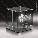 Crystal  Clear Square Cube Paperweight  Trophy Award Clear Crystal Awards