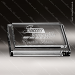 Crystal  Clear Rectangle Arkitek Paper Weight Trophy Award Clear Crystal Awards