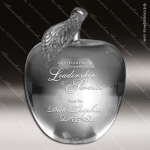 Crystal  Scholastic Apple 3D Scholastic Paperweight Trophy Award Clear Crystal Awards