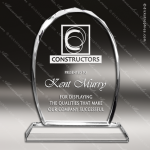 Crystal  Oval Faceted Trophy Award Clear Crystal Awards