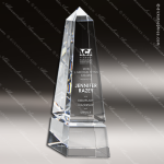 Crystal  Obelisk Trophy Award Clear Crystal Awards