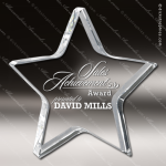 Crystal  Star Premium Paperweight Trophy Award Clear Crystal Awards