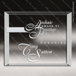 Crystal  Clear Rectangle Medford Plaque Trophy Award Clear Crystal Awards
