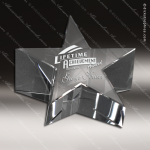 Crystal  Clear Star Paper Weight Trophy Award Clear Crystal Awards