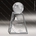 Crystal  Clear Pershing Globe Trophy Award Clear Crystal Awards