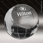 Crystal  Globe Paperweight Trophy Award Clear Crystal Awards