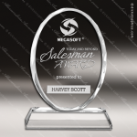 Crystal  Oval Memento Trophy Award Clear Crystal Awards