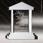 Crystal  Clear Royal Palace Justice House Home Realtor Trophy Award Clear Crystal Awards
