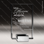 Crystal Silver Accented Candor Chrome Base Trophy Award Clear Crystal Awards