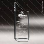 Crystal Silver Accented Boomerang Plaque Trophy Award Clear Crystal Awards