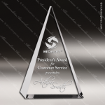 Crystal  Triangle Trophy Award Clear Crystal Awards