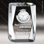 Engraved Crystal Desk Clock Timepiece Trophy Award Clock Crystal Awards