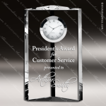 Engraved Crystal Desk Clock Pioneer Tower Trophy Award Clock Crystal Awards