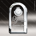 Engraved Crystal Desk Clock Royal Arch Tower Trophy Award Clock Crystal Awards