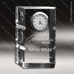 Crystal Clock Silver Lost In Space Trophy Award Clock Crystal Awards