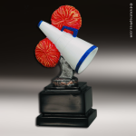 Resin Color Ball Pedestal Series Cheerleading Trophy Award Color Ball Pedestal Resin Trophy Awards