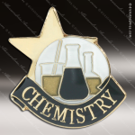 Lapel Pin - Chemistry Academic Metal Chenille Letter Insignia Color Lapel Chenille Pins