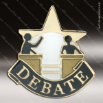 Lapel Pin - Debate Academic Metal Chenille Letter Insignia Color Lapel Chenille Pins