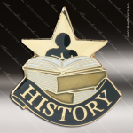 Lapel Pin - History Academic Metal Chenille Letter Insignia Color Lapel Chenille Pins