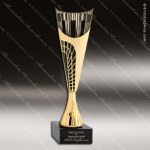 Cup Trophy Economy Gold Cone Black Accented Modern Cup Award Cone Cup Trophy Awards