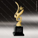 Cast Metal Black Accented Gold Art Star Award Contemporary Trophy Awards