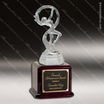 Glass Clear Victory Dance Sculpture Trophy Award Contemporary Trophy Awards