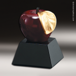 Resin Apple On Base Contemporary Trophy Awards